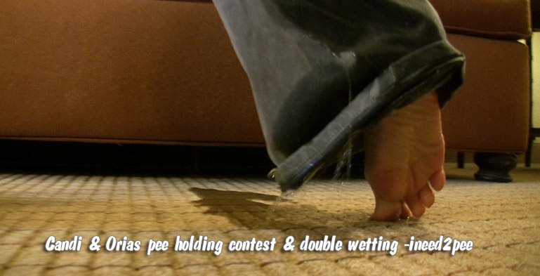 pants peeing contest