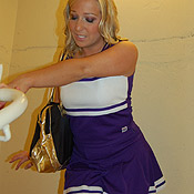 pee piss wetting cheerleader uniform