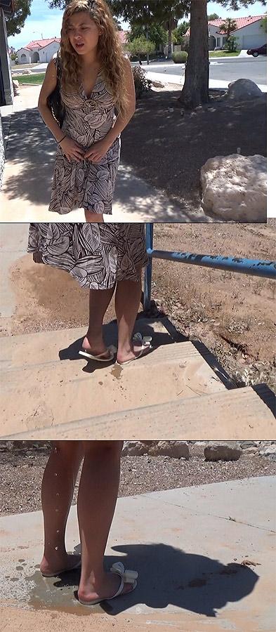 natalie peeing her skirt wetting