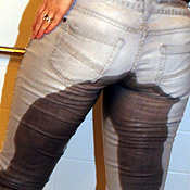 tight jeans pee peeing wetting pissing