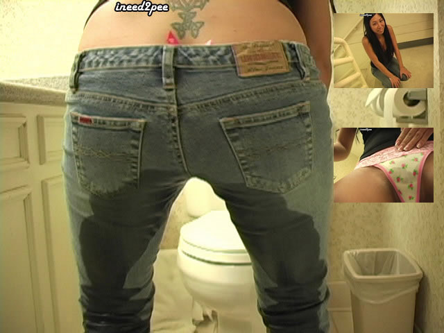 tia ling asian ineed2pee wetting pants jeans